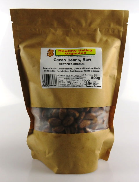 Organic Cacao Beans 250g