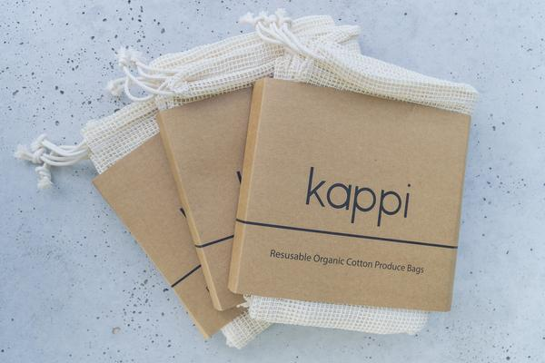 Kappi 3-Pack Organic Cotton Produce Bags