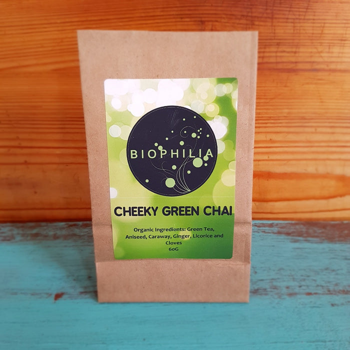 Biophilia Loose Leaf Tea- 'Cheeky Green Chai', 60g