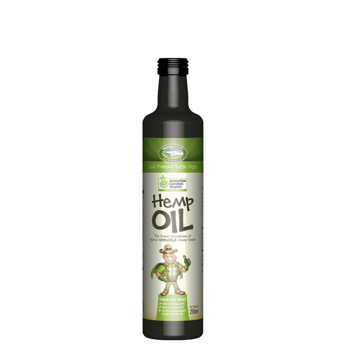 Organic Hemp Oil, Cold Pressed, Australian, 250ml