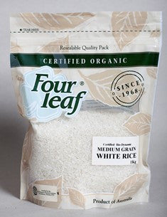 Organic Bio-Dynamic White Rice, Medium Grain, Australian, 1kg