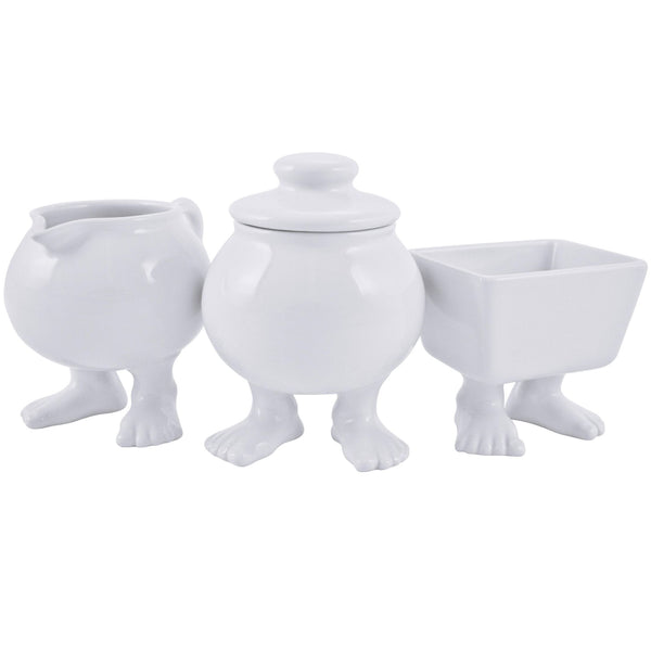 Ceramic Creamer, Caddy and Sugar Bowl with Lid 3 Piece Set! | Coffee or Tea Set Ceramic Sets Dylan Kendall