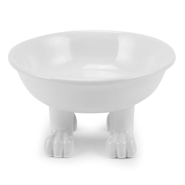 Ceramic Dog Bowl on Paws | Medium | Lifted Footed Pet Dylan Kendall