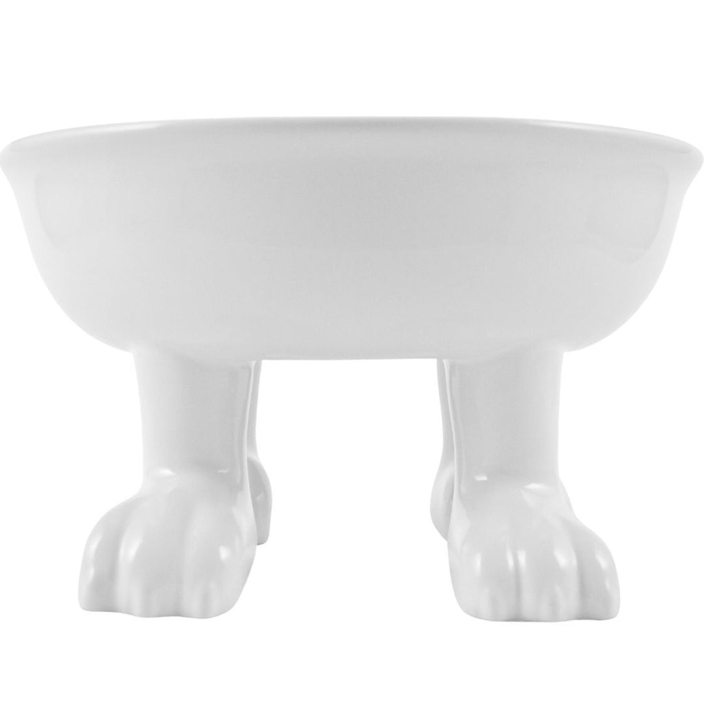 Ceramic Dog Bowl on Paws + Stainless Steel Liner | Lifted | Large Footed Pet Dylan Kendall