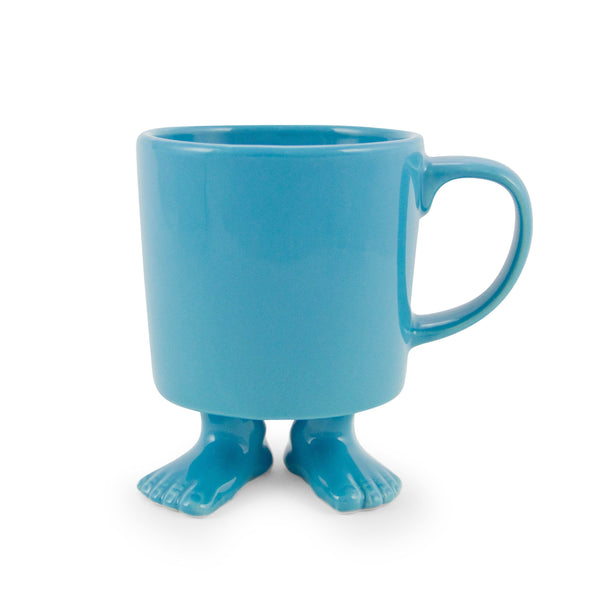 Ceramic Footed Mug | Blue Footed Mugs Dylan Kendall
