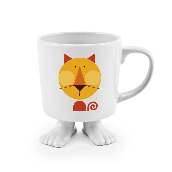 Ceramic Footed Mug | Cat Footed Mugs Dylan Kendall
