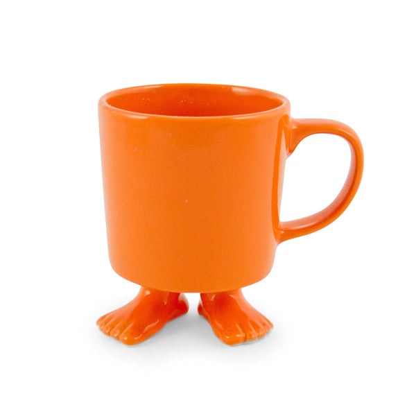 Ceramic Footed Mug | Orange Footed Mugs Dylan Kendall
