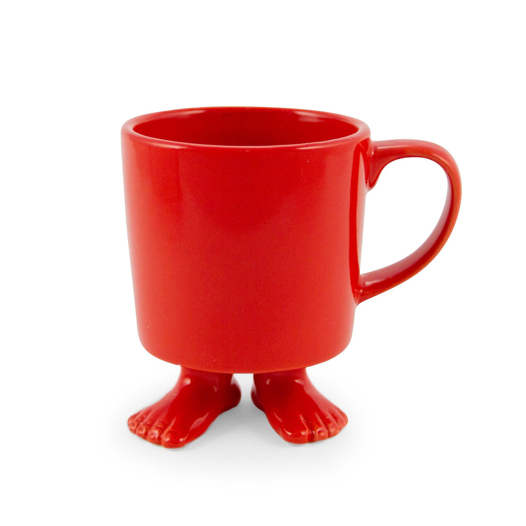 Ceramic Footed Mug | Red Footed Mugs Dylan Kendall