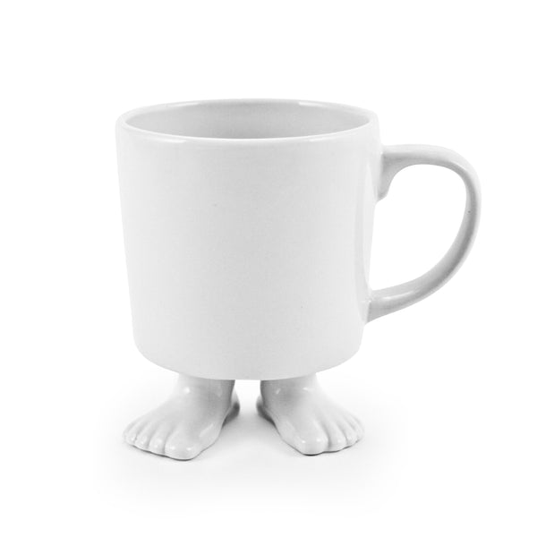 Ceramic Footed Mug | White Footed Mugs Dylan Kendall
