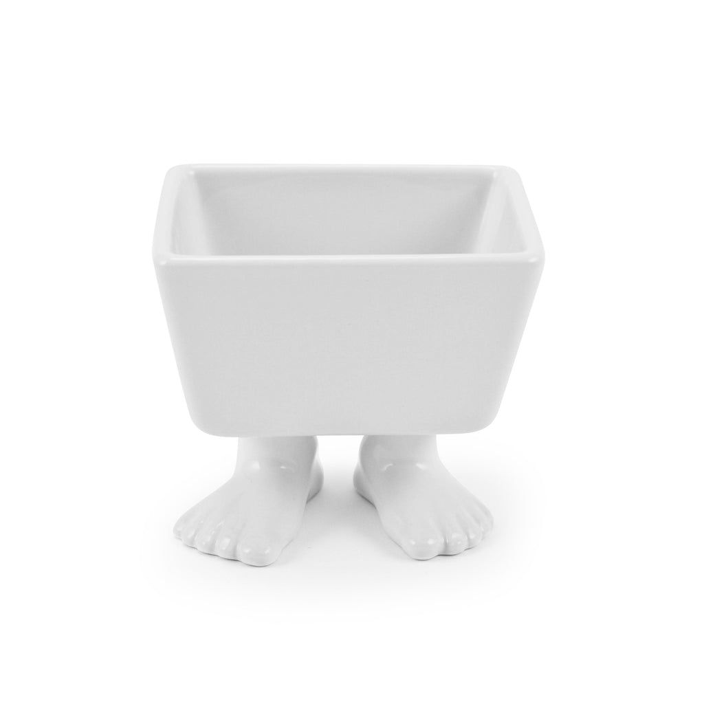 Ceramic Sugar Packet or Tea Caddy with Feet | Footed Dish Footed Home Dylan Kendall