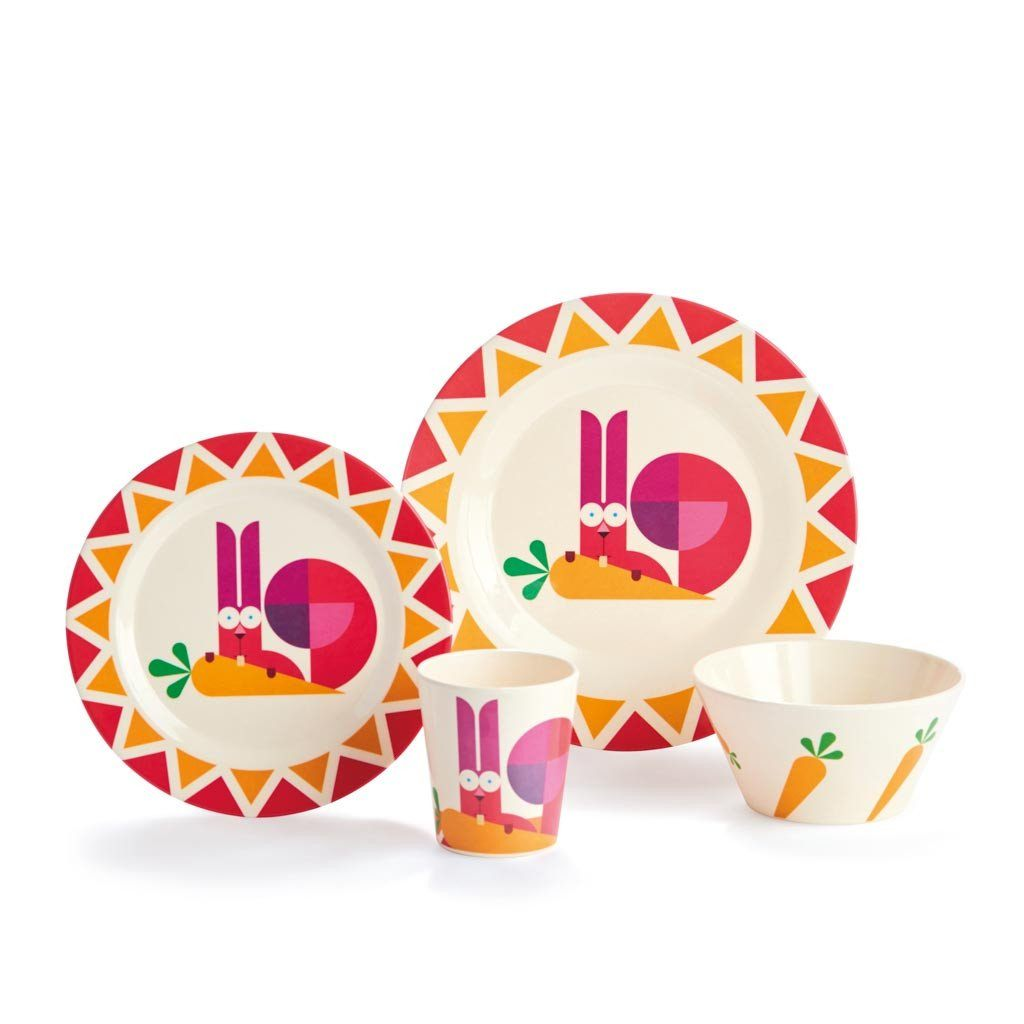 Kids Dishes | Lighthearted Rabbit - Eco Kids Dishware Eco Kids Dylan Kendall Gift box set