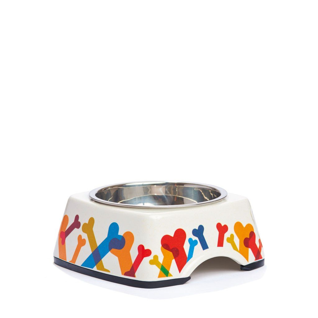 Pet Bowl | Bone Appétit: Eco-Friendly Bamboo Dog Pet Bowls with Stainless Steel Liner Eco Pet Dylan Kendall Small