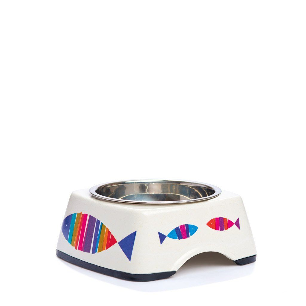 Pet Bowl | Fintastic Fish: Eco Pet Bowls with Stainless Steel Liner Eco Pet Dylan Kendall Small