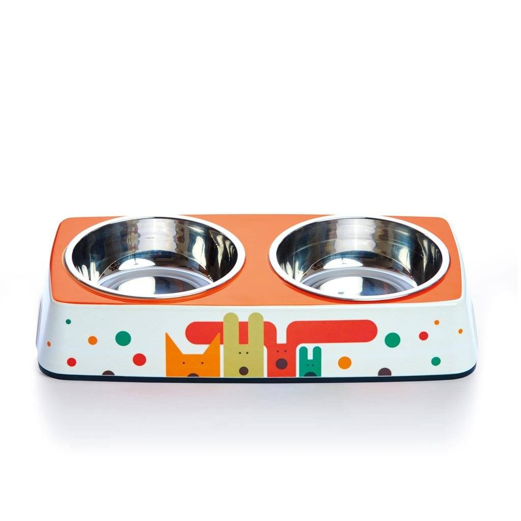 Pet Bowl | Pack of Pups - Eco Double Feeder Pet Bowl with Stainless Steel Liner Eco Pet Dylan Kendall