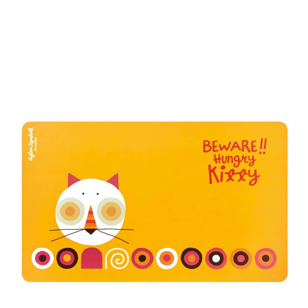 Pet Mat | Beware!! Hungry Kitty: Sustainable, Safe Pet Placemats Dylan Kendall