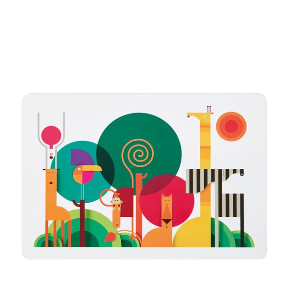 Placemat | Zebra on a Safari - Sustainable, Safe Kids Placemat Kids Placemats Dylan Kendall