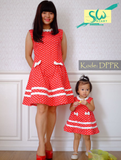 Dress Polka Pita Red (Mom)
