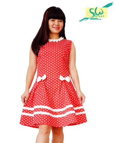 Dress Polka Pita Red (Kids)