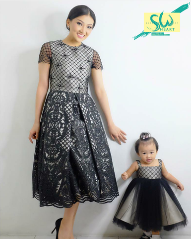 Dress Black Net (Couple Set)