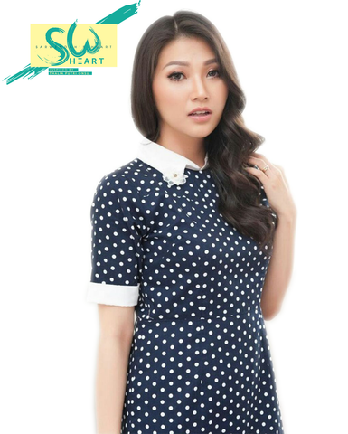 Dress Polka Navy