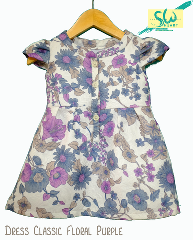 Dress Floral Classic Purple (Kids)
