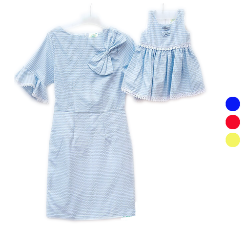 Dress Square Blue (Kids/Mom)