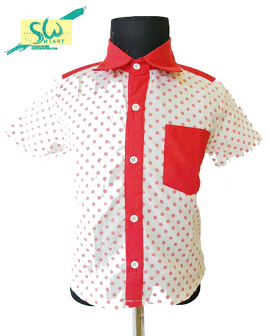 Shirt Polka Red