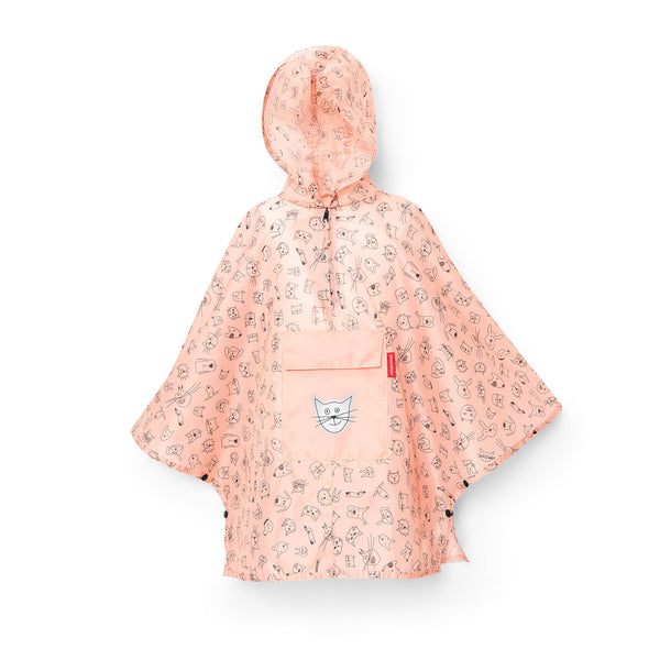 Mini Maxi Poncho M Kids Cats & Dogs Rose