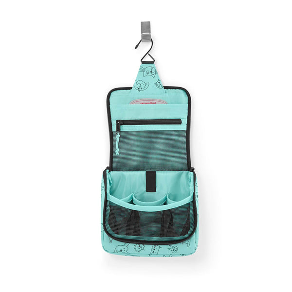 Toiletbag S Kids Cats & Dogs Mint
