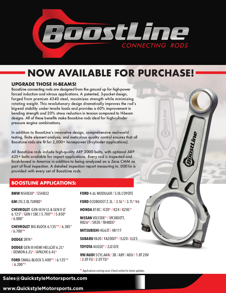 Wiseco BoostLine Connecting Rod Kits New Release