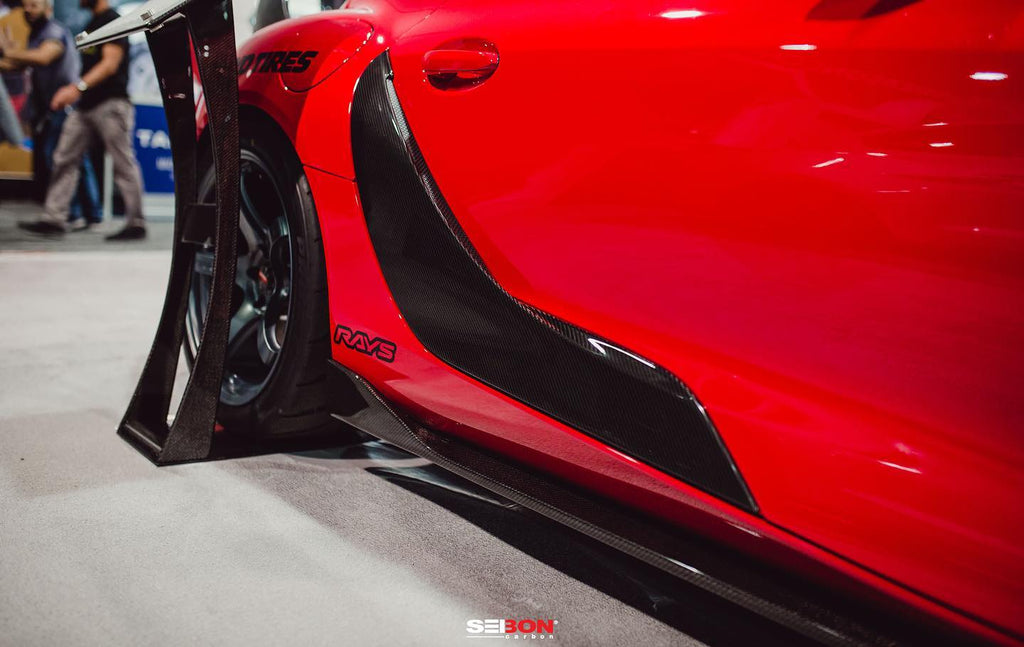 GR SUPRA CARBON SIDE SKIRTS SEIBON, SEMA 2019