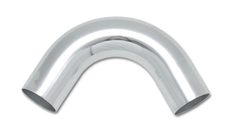 Vibrant 3in O.D. Universal Aluminum Tubing (120 degree Bend) - Polished