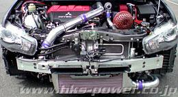HKS Type-2 Front Mount Intercooler includes Full Piping Kit for 08-10 Mitsubishi Evolution X - Quickstyle Motorsports
