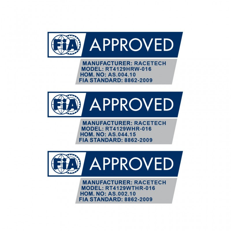 fia approved racing sea, racetech