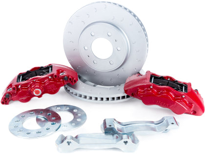 Alcon 2010+ Ford F-150 347x36mm Rotors 6-Piston Red Front Brake Kit