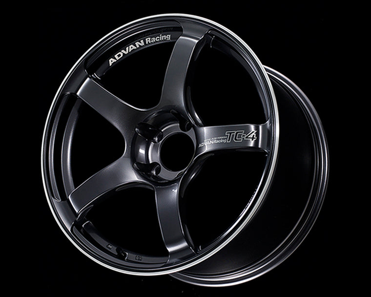 Advan TC4 18x9.5 +12 5-114.3 Racing Gunmetallic and Ring Wheel