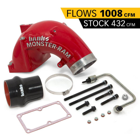 Banks Power 07.5-17 Ram 2500/3500 6.7L Diesel Monster-Ram Intake System w/Fuel Line 4.0in Red