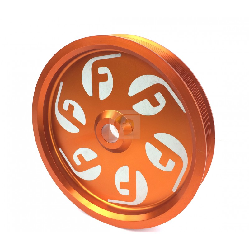 Cummins Dual Pump Pulley For use with FPE Dual Pump Bracket Orange Fleece Performance