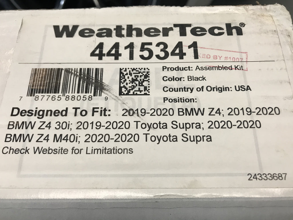 4415341 weather tech NEW supra floor mats