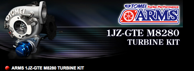 TOMEI ARMS 1JZ-GTE M8280 TURBINE KIT
