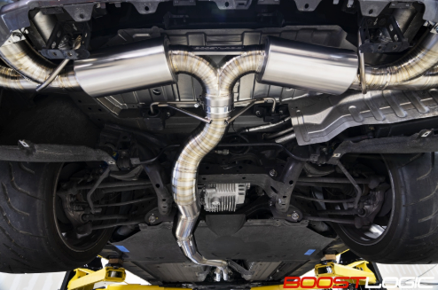 Boost Logic 4 Inch Exhaust System F16 Tips Nissan GT-R R35 09-18