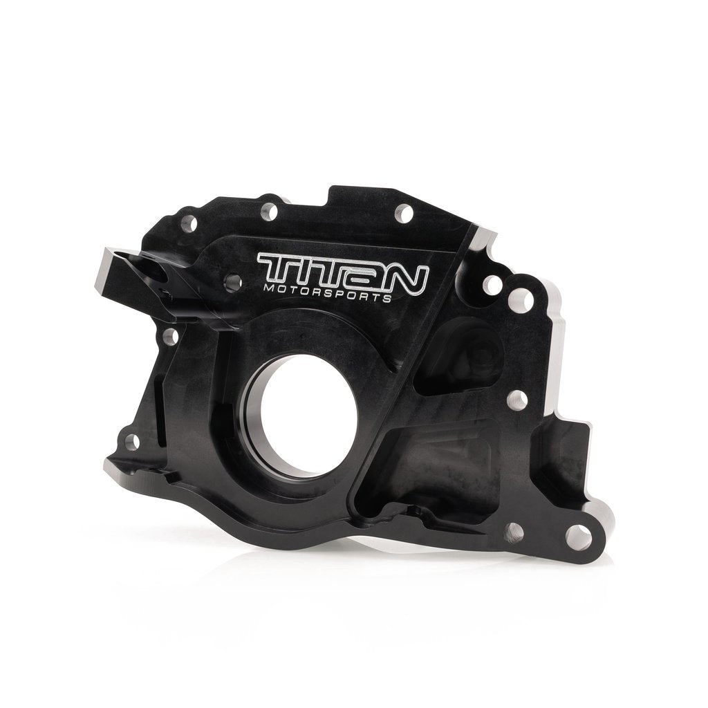 2JZ Billet Front Cover for Dry Sump, Titan Motorsports, TMS SUP-ENG-448