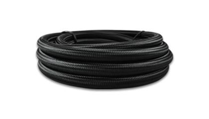 Vibrant -8 AN Black Nylon Braided Flex Hose w/ PTFE liner (10FT long)