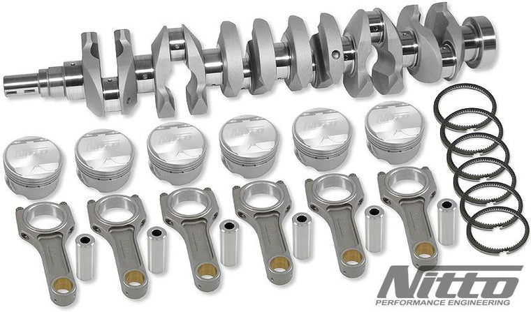 NITTO RB30 TO RB32 STROKER KIT (I-BEAM RODS / 86.0MM OR 86.5MM BORE)