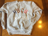 "Gray ""late for class"" Crew neck"