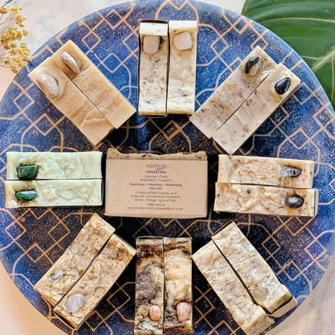 Artisanal Soap with Crystals by Sephirah - Ametrine