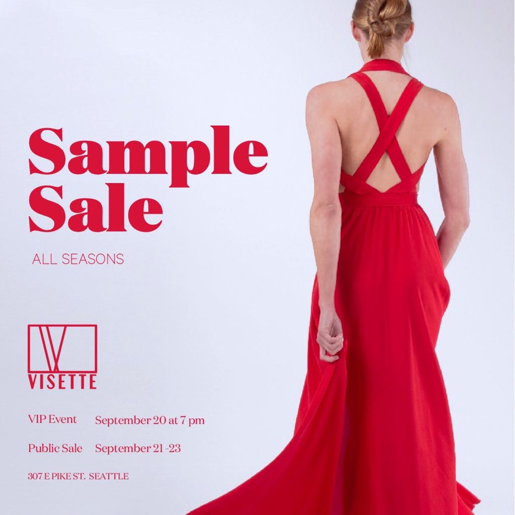 All Seasons Sample Sale // VIP-Event: September 20 7pm // Sale: Sept 21st- Oct 1st