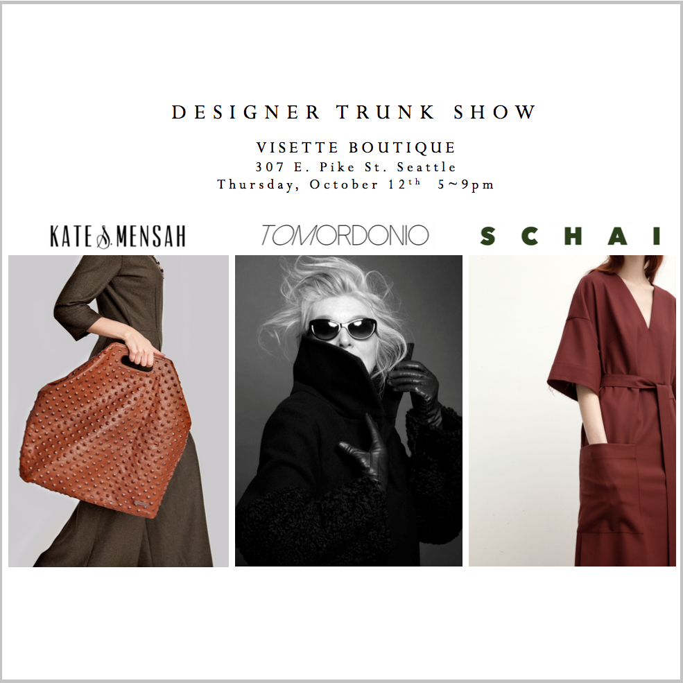 Designer Trunk Show // October 12th 5-9pm