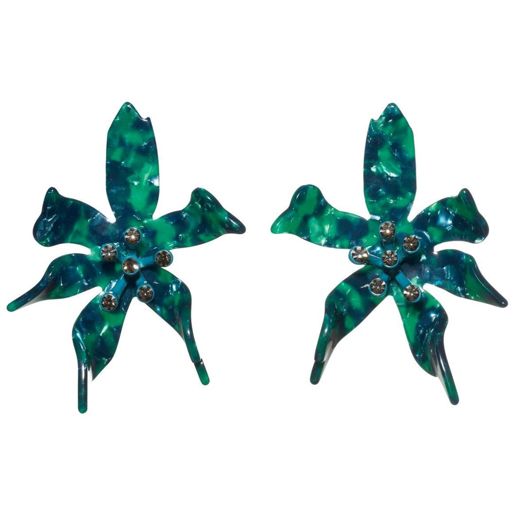 Lele Sadoughi Water Lily Earrings