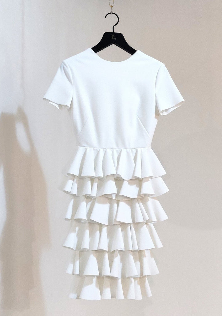 "Greta Constantine ""Alala"" Tiered Ruffle Dress"
